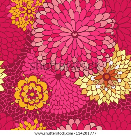 Stylish floral background. - stock vector