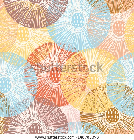 Stylish floral seamless pattern. Seamless pattern can be used for wallpaper, pattern fills, web backgrounds, surface textures. Gorgeous seamless floral background - stock vector