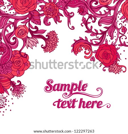 Stylish floral Valentine's day background. Element for design. Vector illustration. - stock vector