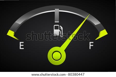 Stylish Fuel Meter - stock vector