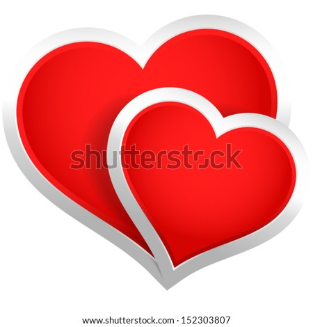 Stylish Hearts Composition  - stock vector