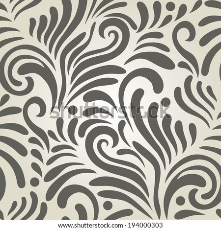 Stylish Modern Abstract background with floral seamless pattern.  - stock vector