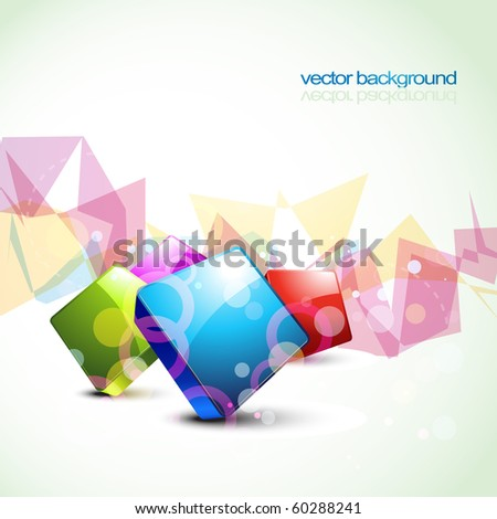 stylish shiny colorful vector design artwork - stock vector