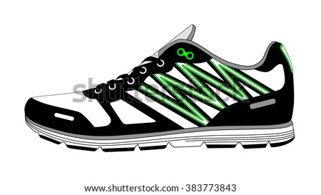 Stylish shoes for running. vector - stock vector