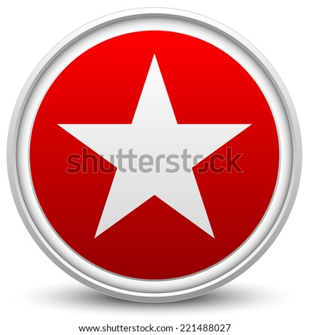 Stylish star icon - stock vector