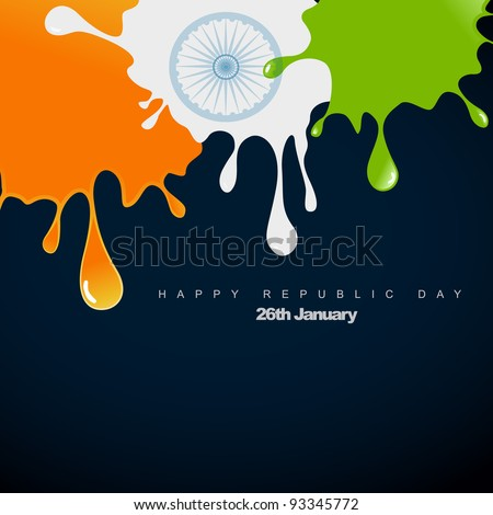 stylish vector indian flag design illustration - stock vector