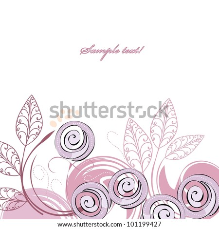 Stylish violet rose backgrounds - stock vector