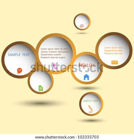 Stylish web design bubble. Vector eps10 - stock vector