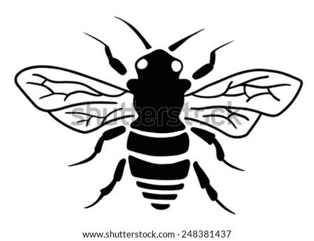 Stylized bee - stock vector