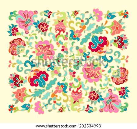 Stylized floral composition  - stock vector