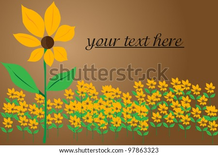 Stylized flower background with space for text - stock vector