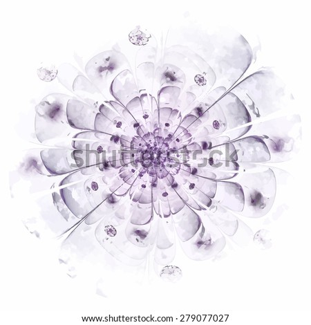 Stylized flower. Computer generated pattern. Useful as background or design element for images devoted to subjects of nature, beauty, cosmetics, etc. - stock vector