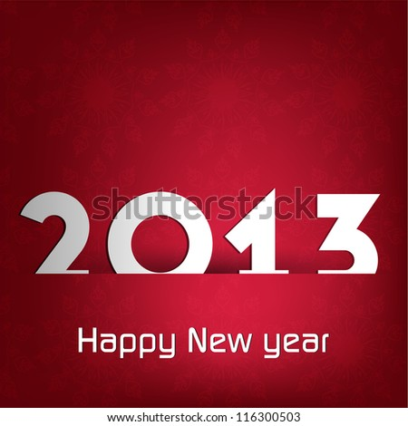 Stylized 2013 Happy New Year background. EPS 10 - stock vector