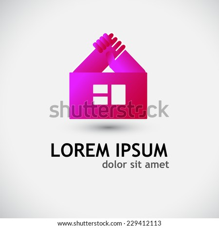 stylized house symbol. Vector  - stock vector