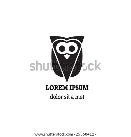 Stylized owl on white background. - stock vector