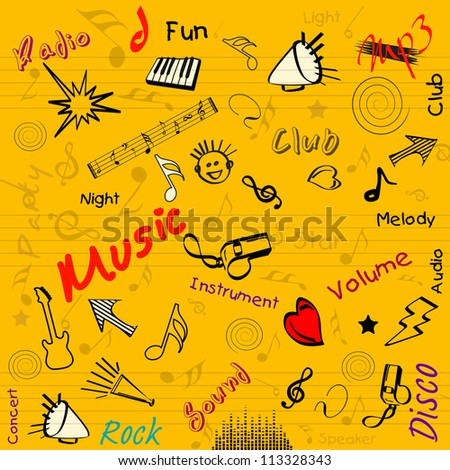 Stylized retro musical background. EPS 10. - stock vector