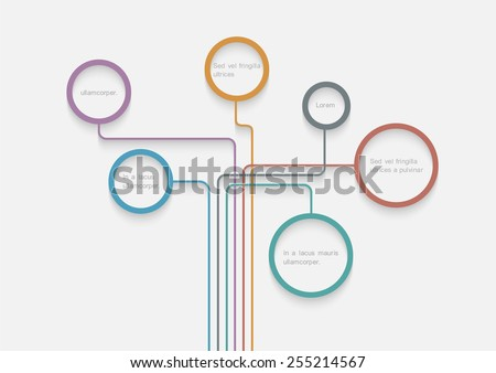 Stylized tree of web design bubbles with shadows. Vector design template - stock vector