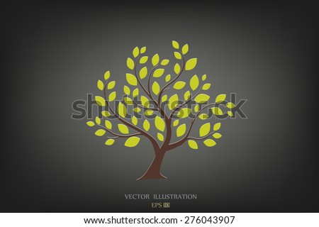 Stylized vector tree - stock vector