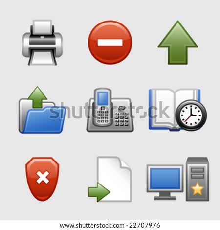 Stylized web icons, set 04 - stock vector