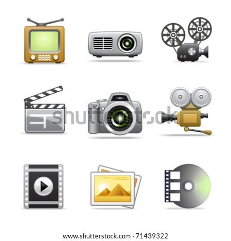 Stylized web icons, set 19 - stock vector