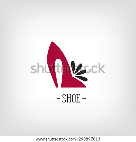 Stylized womens shoes. Logo shoe store. - stock vector