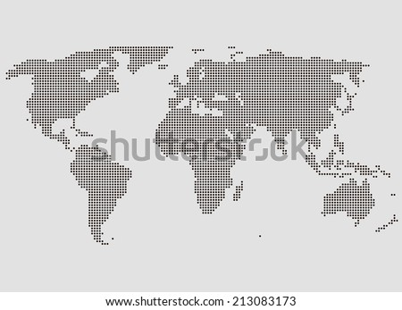 Stylized World Map. Vector Illustration - stock vector