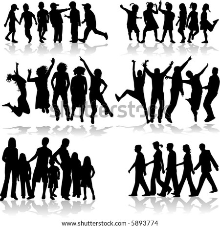 Subject Group of People - stock vector