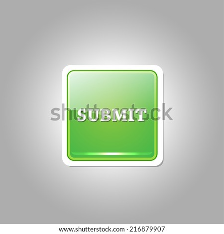 Submit Glossy Shiny Rounded Rectangular Vector Button - stock vector