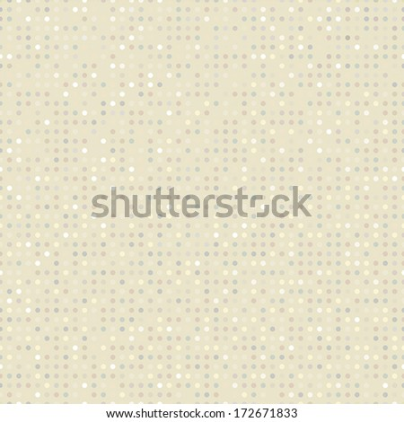 Subtle seamless polka-dotted pattern. - stock vector