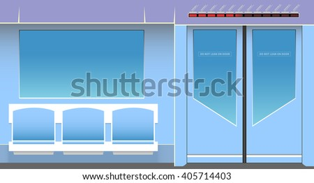 Subway interior. Vector illustration. EPS 10, opacity - stock vector
