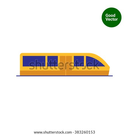 Subway train - stock vector