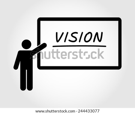 Success achievement conference training. Businessman pictogram vector icon - stock vector