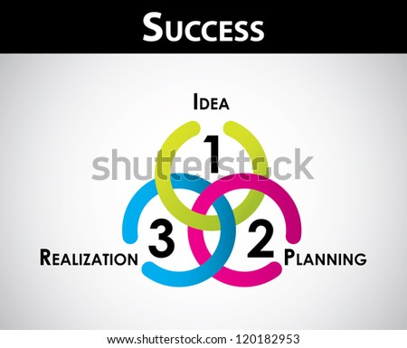 Success concept - special business background for your website - stock vector