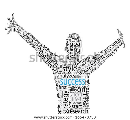Success concept vector artwork  - stock vector