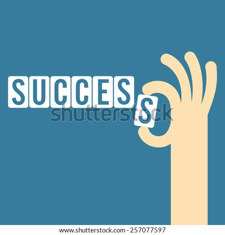 success concept with the final piece jigsaw - stock vector
