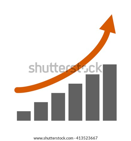 Success on top graph confident business on top of highest growth bar graph. Top graph business growth finance chart and top graph progress success concept. Top graph diagram market. - stock vector