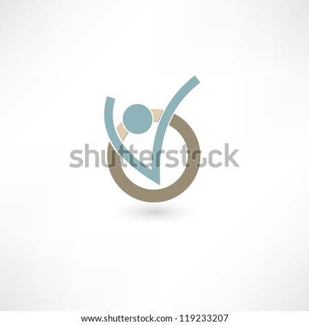 Success people icon - stock vector