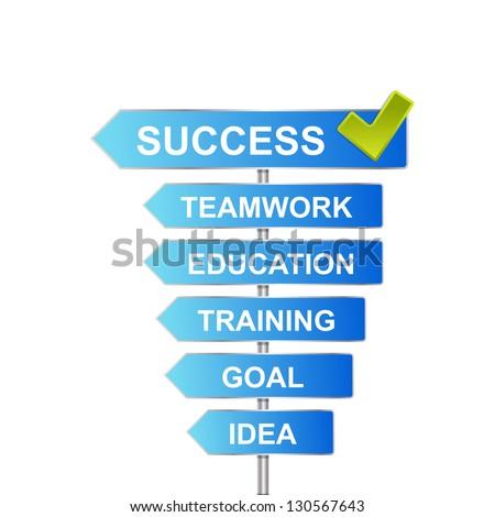Success road  - stock vector