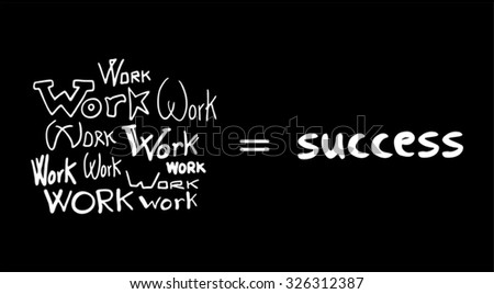 success secret message - stock vector