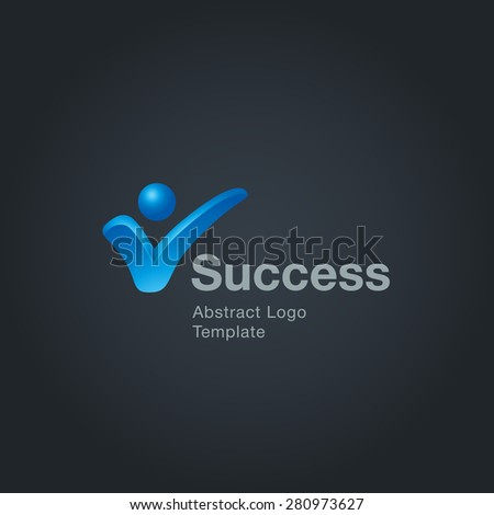 Success sign logo template. Corporate branding identity - stock vector