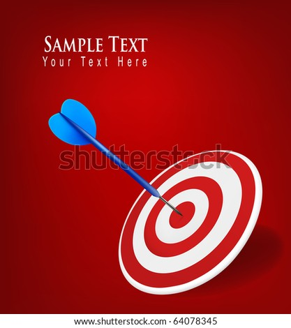 Success target in business. Vector Illustration. - stock vector