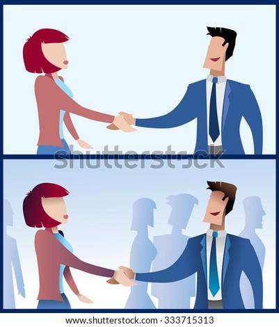 Successful Business Meeting Artwork (Vector Art) - stock vector