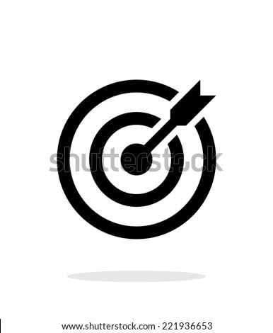 Successful shoot. Darts target aim icon on white background. Vector illustration. - stock vector