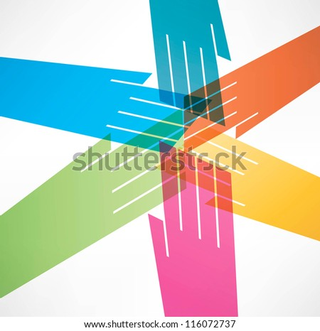 Successful team Background - stock vector