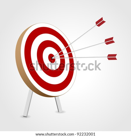 Successful triple target hit - stock vector