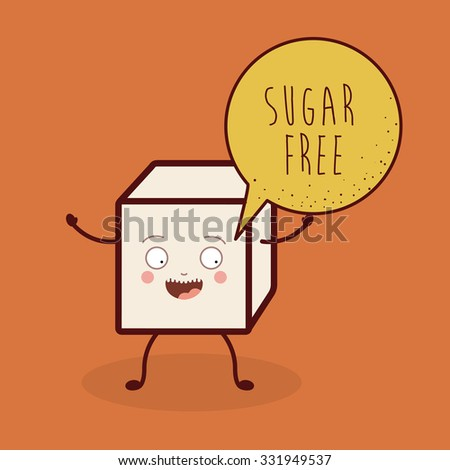sugar free product design, vector illustration eps10 graphic  - stock vector