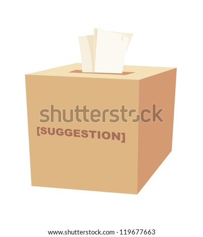 Suggestion Box - stock vector