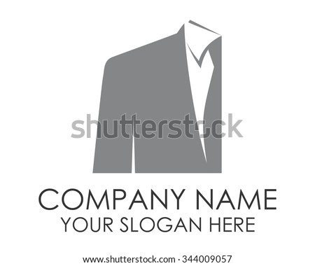 suit and tie business man logo icon vector - stock vector