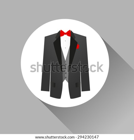 Suit icon isolated - stock vector