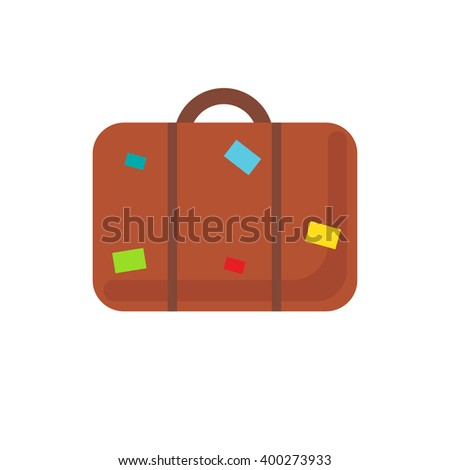 Suitcase icon. Abstract vector luggage icon. Retro suitcase sign  - stock vector
